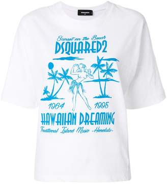 DSQUARED2 Hawaiian Dreaming print T-shirt