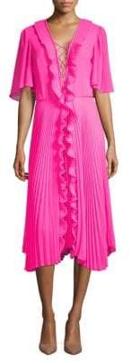 Gwen Lace-Up Ruffle Dress