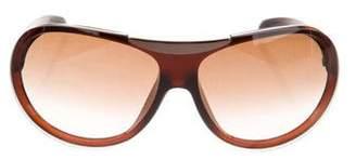 Chanel Logo Shield Sunglasses