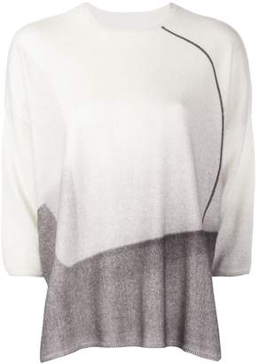 Oyuna three-quarters sleeve boxy jumper