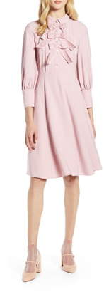 Halogen x Atlantic-Pacific Bow Detail Fit & Flare Dress