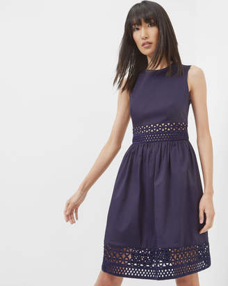 Ted Baker DAYZEY A-line lace panel dress