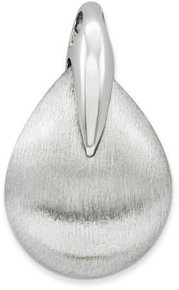 Sterling Brushed Teardrop-Shaped Pendant