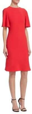 Brandon Maxwell V-Back Drape Dress