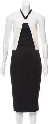 Chanel Colorblock Halter Dress