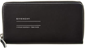 Givenchy Graphic Leather Zip Around Wallet