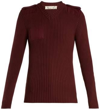 Martine Rose Ribbed-knit cotton sweatshirt