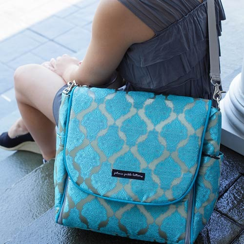 Petunia Pickle Bottom Exclusively Posh Mosaic Roll Boxy Backpack by Petunia