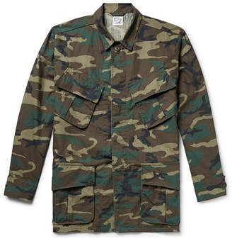 orSlow Camouflage-Print Cotton-Ripstop Field Jacket