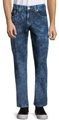 True Religion Straight-Leg Flap-Pocket Jeans