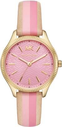 MICHAEL Michael Kors Michael Kors Lexington Leather Strap Watch, 36mm