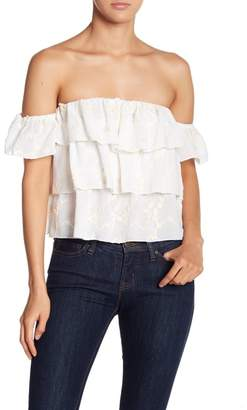 Endless Rose Ruffle Off-The-Shoulder Top