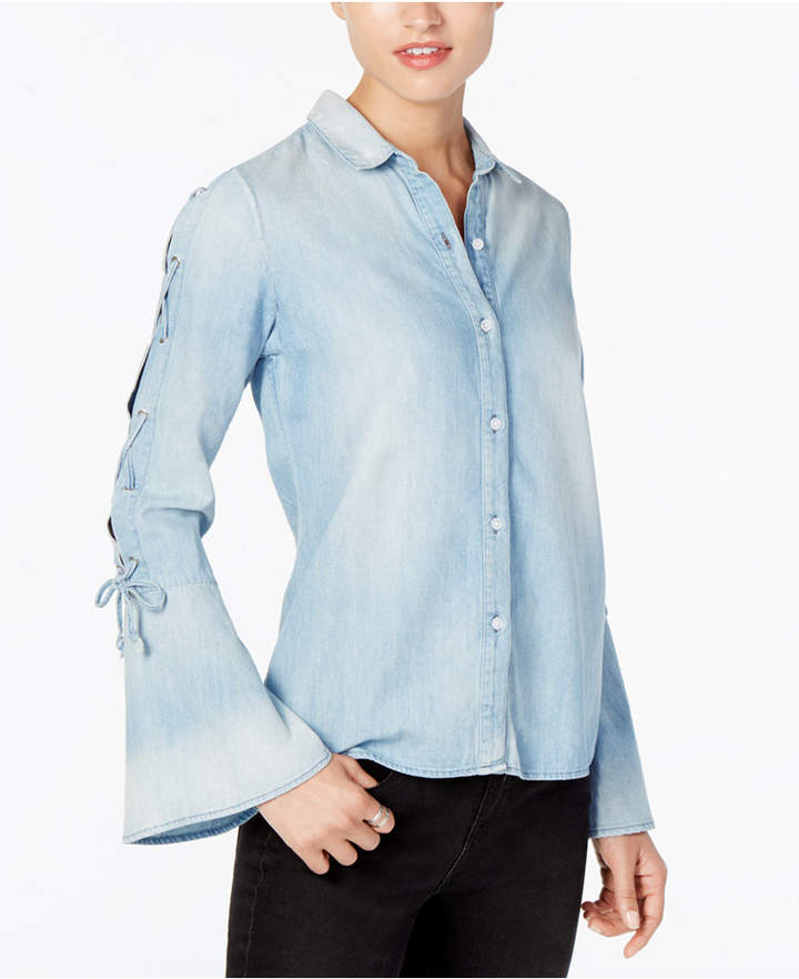 Buffalo David Bitton Denim Bell Sleeve Shirt