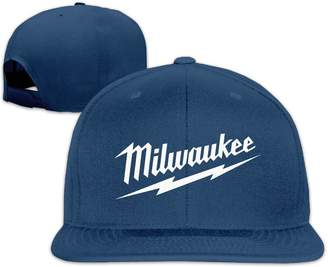 26bf06f2c6ea0 ATOPSHOP Milwaukee Logo Unisex Adults Cotton Snapback Hat Flat Baseball Cap