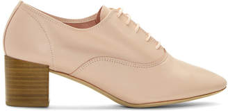 Repetto Pink Heeled Oxfords