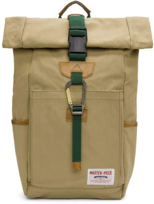 Master-piece Co Master Piece Co Beige Foldover Link Backpack