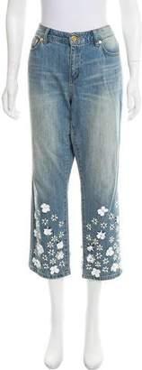 Michael Kors Embellished Mid-Rise Jeans