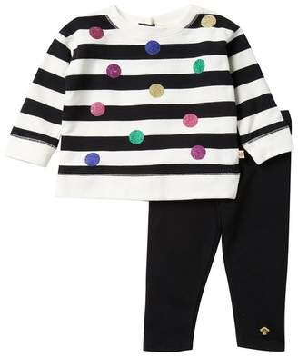 Kate Spade glitter dot leggings set (Baby Girls)