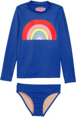 J.Crew crewcuts by Rainbow Stripe Rashguard Set