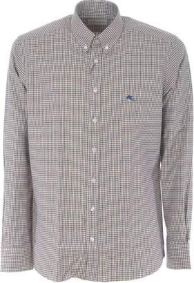 Etro Houndstooth Print Shirt