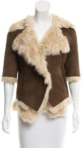 MarniMarni Suede Shearling Coat
