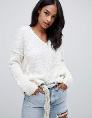 Abercrombie & Fitch off the shoulder fluffy knit