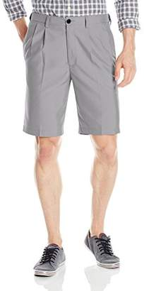 Haggar Men's Cool 18 Expandable-Waist Oxford Pleat-Front Short