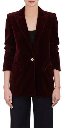 BLAZÉ MILANO Women's Everyday Velvet One-Button Blazer