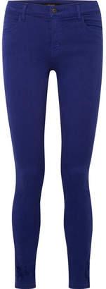 J Brand 620 Super Skinny Distressed Mid-rise Jeans