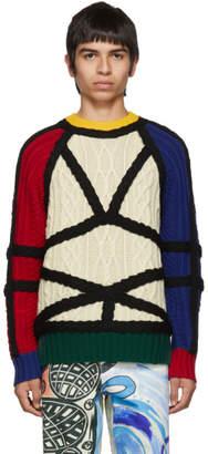 Charles Jeffrey Loverboy Multicolor Aran Lord Of The Flies Sweater