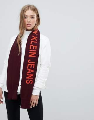 Calvin Klein jeans logo scarf