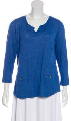 Gerard Darel Solid Long Sleeve Top