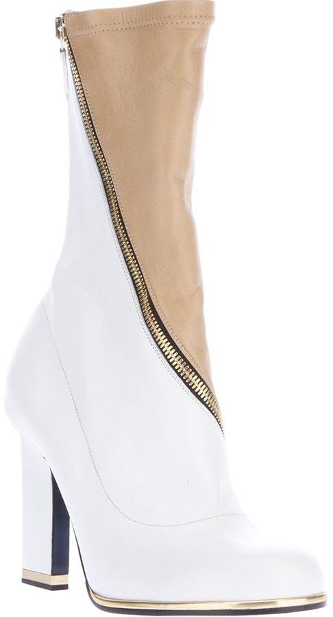Jil Sander bi-colour retro boot