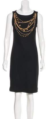 Tory Burch Chain-Embellished Wool Dress