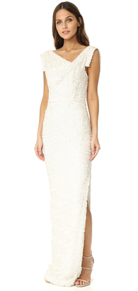 Black Halo Jackie O Anniversary Collection Slit Gown $650 thestylecure.com