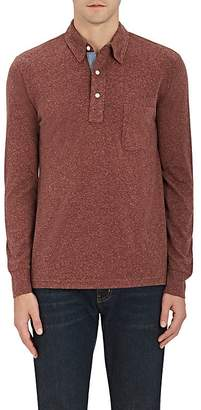 Faherty MEN'S HEATHERED COTTON-BLEND POLO SHIRT