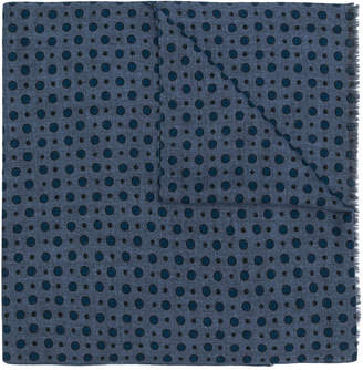 Pal Zileri dot print fringed scarf