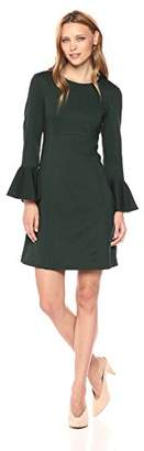 Trina Turk Women's Panache Ponte Bell Sleeve Dress