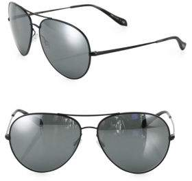 Oliver Peoples Sayer 63MM Mirrored Aviator Sunglasses