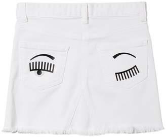 Chiara Ferragni Flirting Eye Denim Skirt
