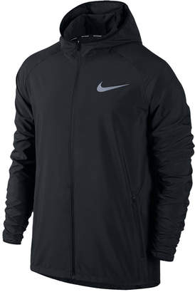Nike Men's Essential Hooded Water-Resistant Running Jacket $80 thestylecure.com