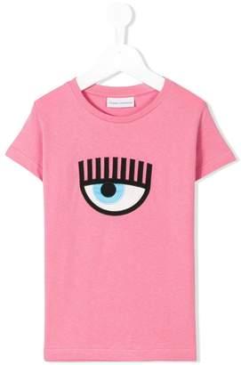 Chiara Ferragni Kids eye embroidery T-shirt