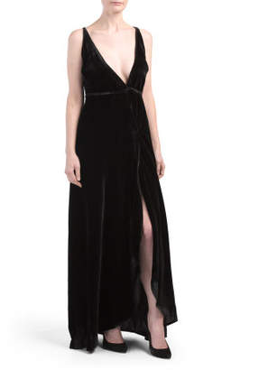 Rush Hour Velvet Maxi Dress