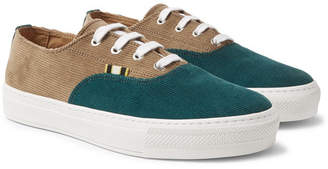 Aprix Two-Tone Corduroy Sneakers