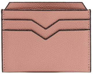 Valextra Grained Leather Cardholder - Mens - Pink