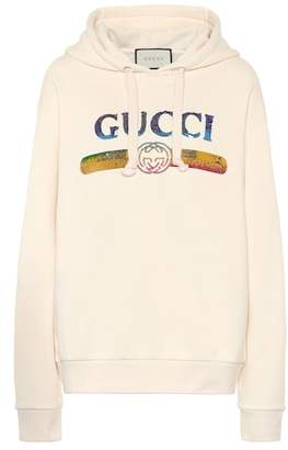Gucci Sequined cotton hoodie