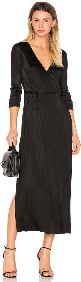 Alexander WangT by Alexander Wang Long Sleeve Wrap Dress
