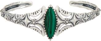 American West Malachite Textured Sterling Silver Cuff
