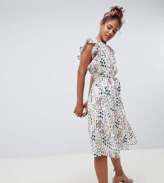 Glamorous Tall tea dress in WATERCOLOR floral