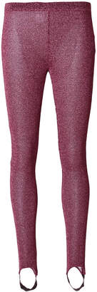 A.F.Vandevorst glitter effect leggings with foot strap